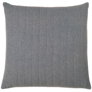 Picture of Myrtle Quilted Charcoal Square Pillow (Filled)