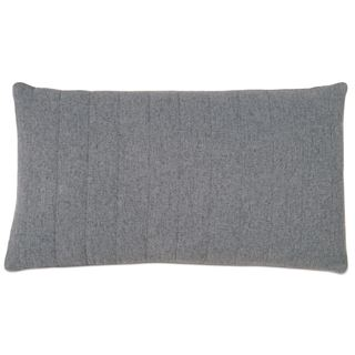Picture of Myrtle Quilted Charcoal Lumbar Pillow (Unfilled)