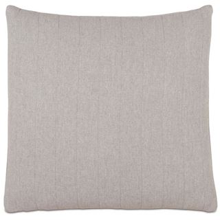 Picture of Myrtle Quilted Pewter Square Pillow (Filled)