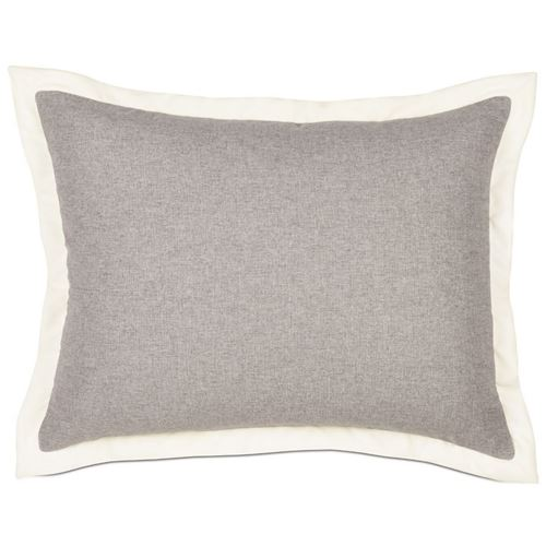 Picture of Myrtle Solid Pewter Bed Pillows (Ivory Flange)