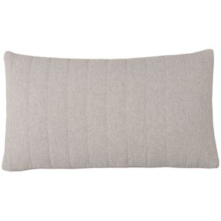 Picture of Myrtle Quilted Pewter Lumbar Pillow (Filled)